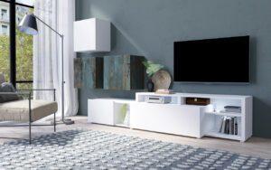 Systémový nábytek VENTO 1 Bílý / Canyon malovany kov