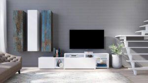 Systémový nábytek VENTO 2 Bílý / Canyon malovany kov