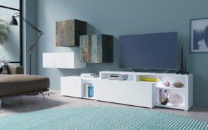 Systémový nábytek VENTO 4 Bílý / Canyon malovany kov