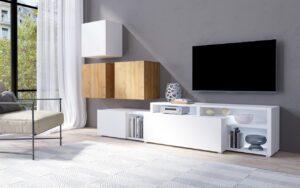 Systémový nábytek VENTO 1 Bílý / Dub Grandson
