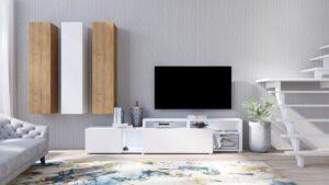 Systémový nábytek VENTO 2 Bílý / Dub Grandson