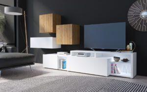 Systémový nábytek VENTO 4 Bílý / Dub Grandson