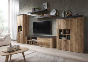Systémový nábytek AMY 1 Satin nussbaum / Touchwood