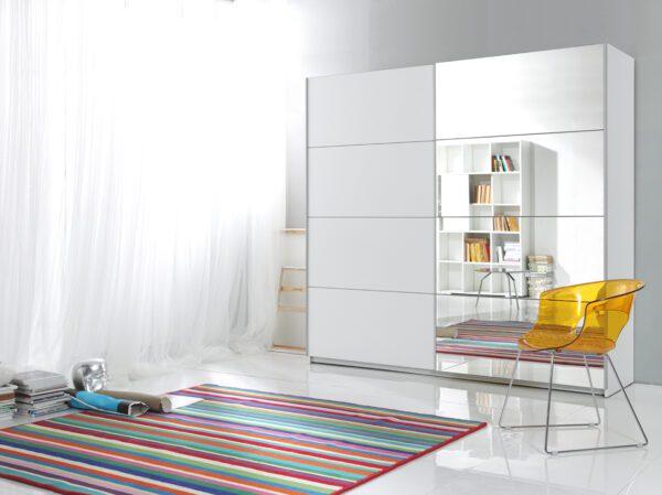 Šatní skříň se zrcadlem BETA BE56 180cm Bílý