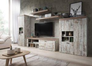 Systémový nábytek AMY 1 Canyon white pine / sonoma Trufel