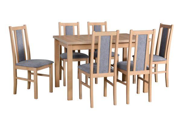 Stůl ALBA 1 + Židle BOS 14 (6ks.) DX19