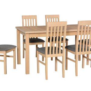 Stůl ALBA 1 + Židle NILO 1 (6ks.) DX21
