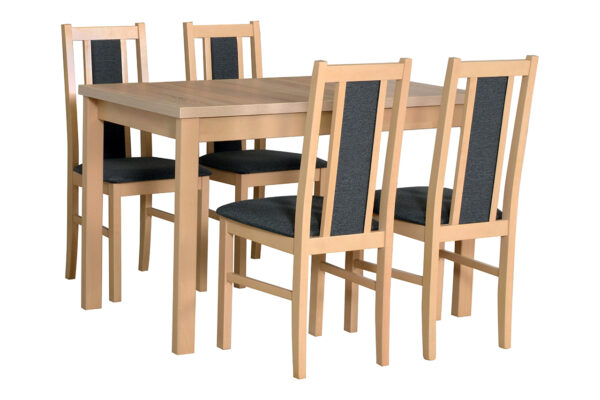 Stůl ALBA 1 + Židle BOS 14 (4ks.) DX8