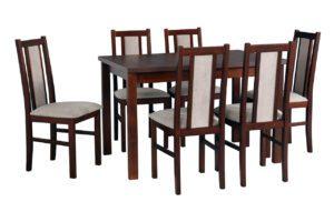 Stůl ALBA 2 + Židle BOS 14 (6ks.) DX20