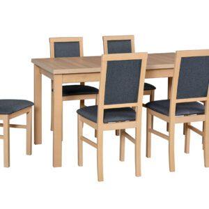 Stůl ALBA 2 + Židle NILO 3 (6ks.) DX23