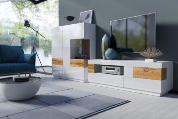 Systémový nábytek SILKE 1 Bílý / Bílý lesk - Wotan