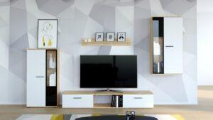 Stylová obývací stěna SALSA Artisan / Bílý