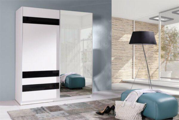 Moderní šatní skříň s posuvnými dveřmi BATUMI 7 150