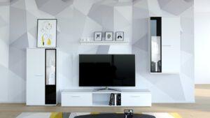 Moderní obývací stěna SALSA bílý