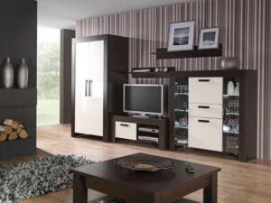 Levný nábytek CEZAR sestava 1 milano/crem