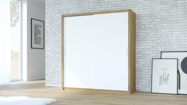 Skříň VISTA 200 Dub Zlatý + Bílý
