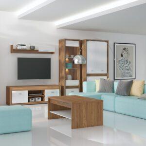 Systémový nábytek ORLANDO 1 Ořech natural + Bílý lesk