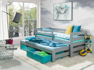 Patrová postel LISA šedá