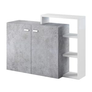 Komoda s nástavcem BOTA BT28 bílý / beton colorado