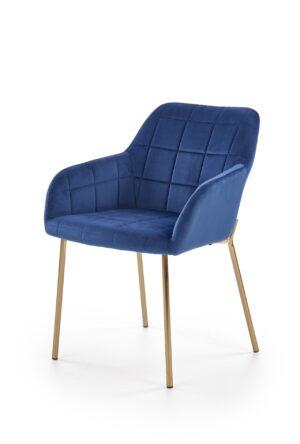 Čalouněné jídelní židle K306 tmavě modrá / zlatý