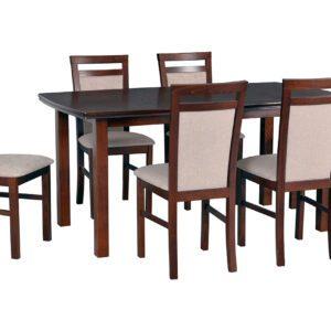 Stůl KENT 2 + Židle MILANO 5 (6ks.) DX32