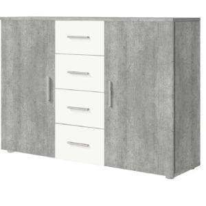 Komoda VERA VE26 beton colorado / bílá