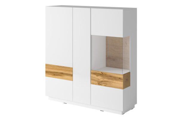 Komoda 3D SE46 SILKE Bílý / Bílý lesk - Wotan