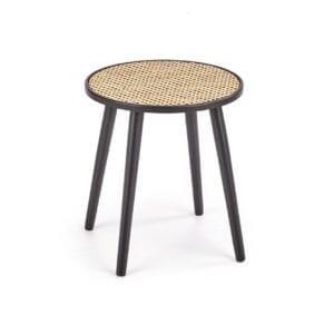 Konferenční stolek JAKARTA černý / rattan přírodní