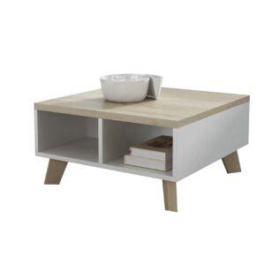 Konferenční stolek LOTTA 60 bílá / dub sonoma