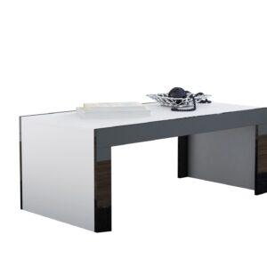 Konferenční stolek TESS 120 bílý / černý lesk