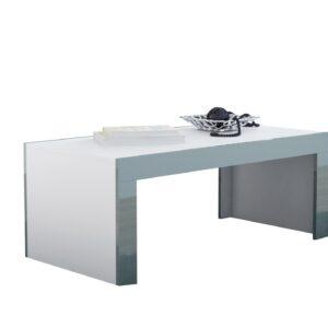 Konferenční stolek TESS 120 bílý / šedá lesk