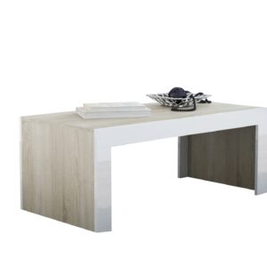 Konferenční stolek TESS 120 dub sonoma / bílý lesk