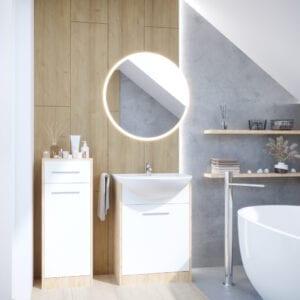 Koupelna NEPPA MINI dub artisan / bílý