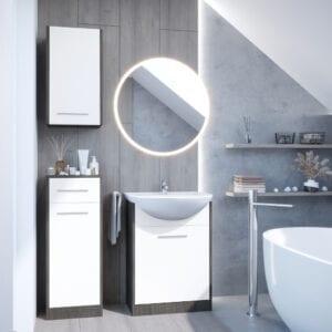 Koupelna NEPPA wenge / bílý