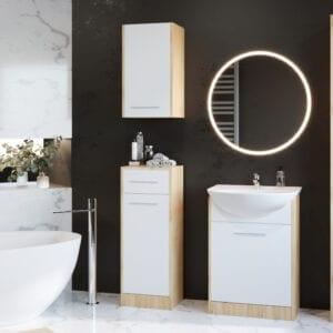 Koupelna SLIDO dub artisan / bílý