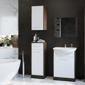 Moderní koupelna SLIM wenge / bílý