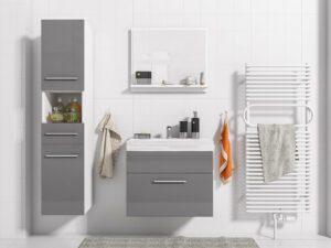 Luxusní koupelna TIPO bílý / grafit lesk