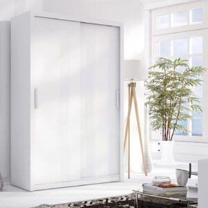 Skříň s posuvnými dveřmi LONDON 120 bílý mat