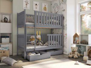 Patrová postel ALVA šedá