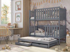 Patrová postel AURA šedá