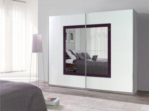 Moderní šatní skříň LUX 32 lesk