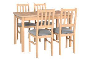 Stůl MAX 10 + Židle BOS 4 (4ks.) DX2