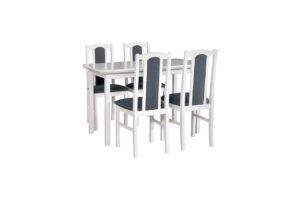 Stůl MAX 4 + Židle BOS 7 (4ks.) DX5