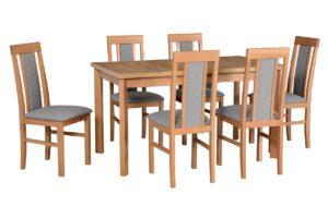 Stůl MODENA 1P + Židle NILO 2 (6ks.) DX22
