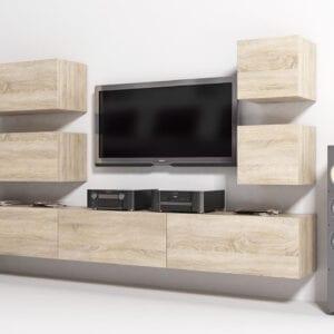 Moderní obývací stěna ONYX 9 dub sonoma