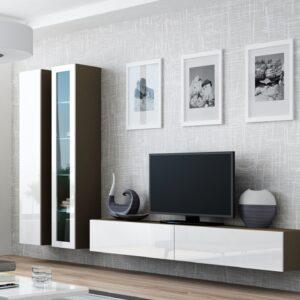 Obývací stěna VIGO LATTE 3B latte / bílý lesk