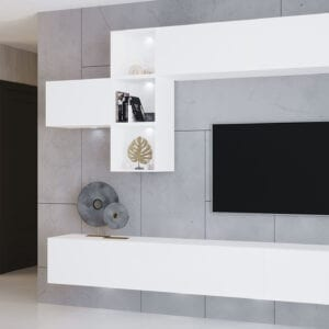 Obývací stěna ONYX 4 bílý lesk