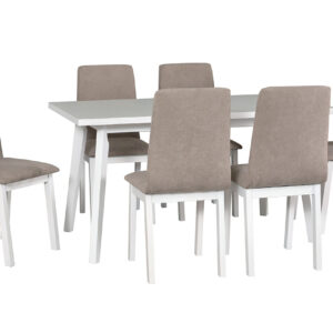 Stůl OSLO 5 + Židle HUGO 5 (6ks.) DX39