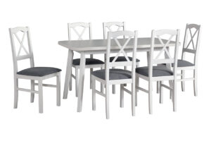 Stůl OSLO 6 + Židle NILO 11 (6ks.) DX28
