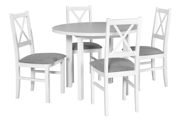 Stůl POLI 2 + Židle NILO 10 (4ks.) DX11